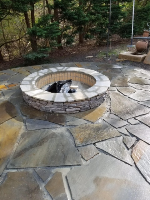 Stone Patio Finished